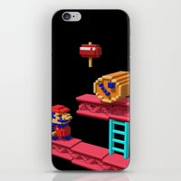 donkey kong iPhone & iPod Skins featuring Inside Donkey Kong by Metin Seven