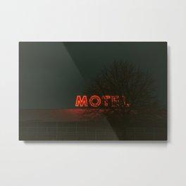 Motel - Neon Metal Print