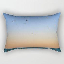 Seagulls Over Lake Michigan Rectangular Pillow