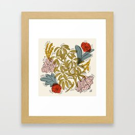 Dancing Florals Framed Art Print