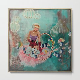 Underwater Circus - Violet and the Clownfish Metal Print