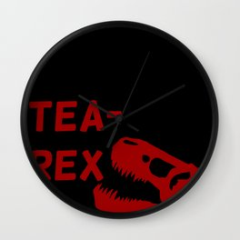 Tea-Rex Wall Clock