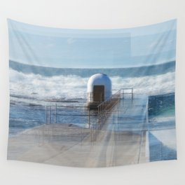 Merewether pool pumphouse, from memory Wall Tapestry
