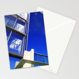 Blue Night Abstract Stationery Cards