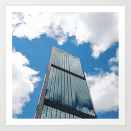 Blue Sky Reflections in a City Skyscraper by Sydney Harbour Art Print