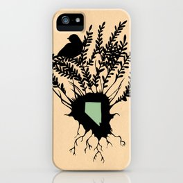 Nevada - State Papercut Print iPhone Case