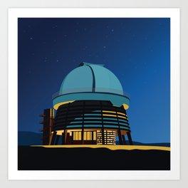 Soviet Modernism: Byurakan Observatory after Viktor Hambardzumyan Art Print