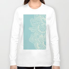 Abstract Nature In Aqua Long Sleeve T-shirt