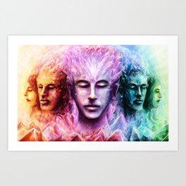 Crystallised thoughts Art Print