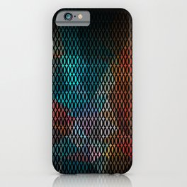 Abstract background of triangles polygon print. Bright dark design colors iPhone Case