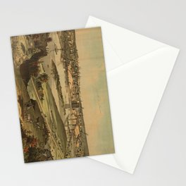 Vintage Pictorial Map of St. Paul Minnesota (1874) Stationery Cards
