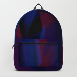 curtains of red and blue 2 Backpack