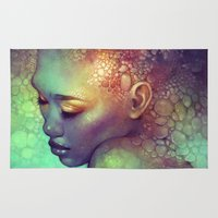 camouflage Area & Throw Rugs featuring Camouflage by Anna Dittmann