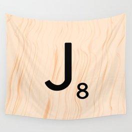 Scrabble Letter J - Large Scrabble Tiles Wall Tapestry