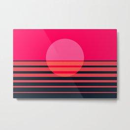 Abstraction_SUNSET_OCEAN_Minimalism_001 Metal Print