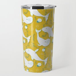 Beluga Whale Mustard #homedecor Travel Mug