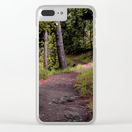 Peaceful Forest Trail Clear iPhone Case
