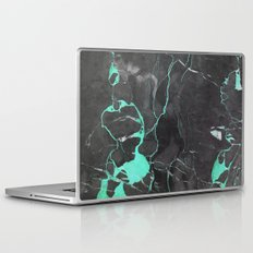 Grey and Blue Marble Laptop & iPad Skin