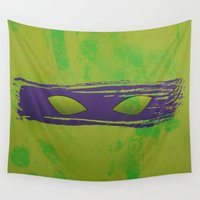 tmnt Wall Tapestries featuring TMNT Donnie by Some_Designs
