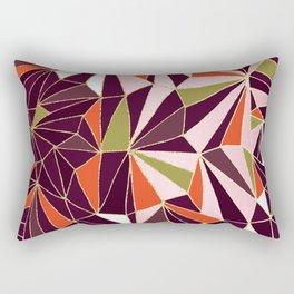 New Art Deco Geometric Pattern - Burgundi and Pink #deco #buyart Rectangular Pillow