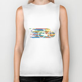 Colorful bicycle 1 Biker Tank