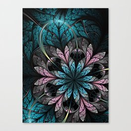 Flower III - Abstract Fractal Artwork Canvas Print