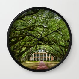 Oak Alley plantation historical site New Orleans USA  Wall Clock