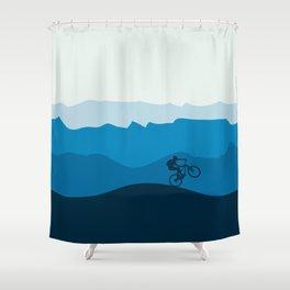 MTB Mountain Bike Cycling the Mountains Shower Curtain