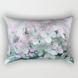 Soft Pastel Hydrangeas Rectangular Pillow