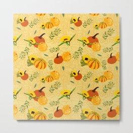 Pumpkins harvest pattern 2 Metal Print