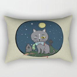 Cats love zombie meat! Rectangular Pillow