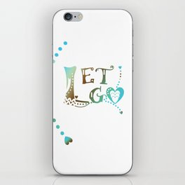 Let Go in Blue Turquoise and Brown iPhone Skin
