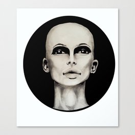 Bald Canvas Print