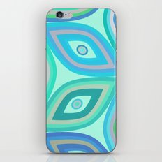 Mint floral pattern iPhone Skin
