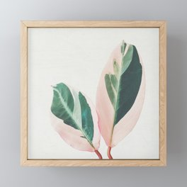 Pink Leaves I Framed Mini Art Print