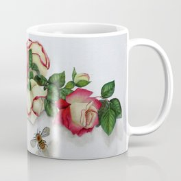 French Perfume Rose Swag Bee Art Coffee Mug