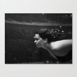 Underwater portrait Canvas Print