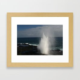 Blow Hole, Kauai Hawaii Framed Art Print