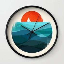 Deep blue ocean Wall Clock