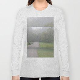 Gloomy autumn fog in park Long Sleeve T-shirt