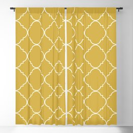 Yellow Moroccan Blackout Curtain