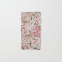 Vintage elegant blush pink collage floral typography Hand & Bath Towel