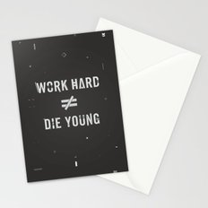Work Hard, Die Young / Dark Stationery Cards