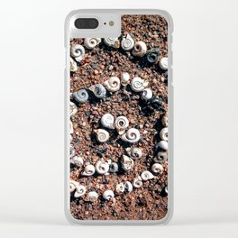 Seashell spiral Clear iPhone Case