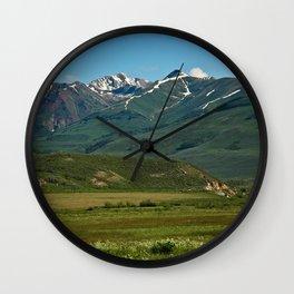 Mountain Valley Wall Clock