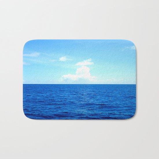 Serene Blue Water Bath Mat