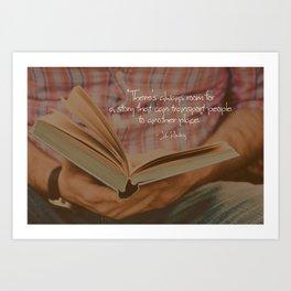 Stories Art Print