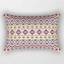 Aztec Essence Ptn III Red Blue Gold Cream Rectangular Pillow
