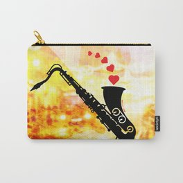 Sax and Love Carry-All Pouch