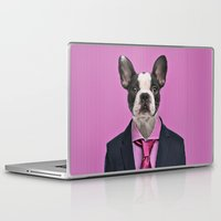 french bulldog Laptop & iPad Skins featuring French bulldog by Life on White Creative
